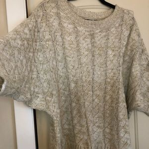 Pins and Needles Short Sleeve Cable Sweater